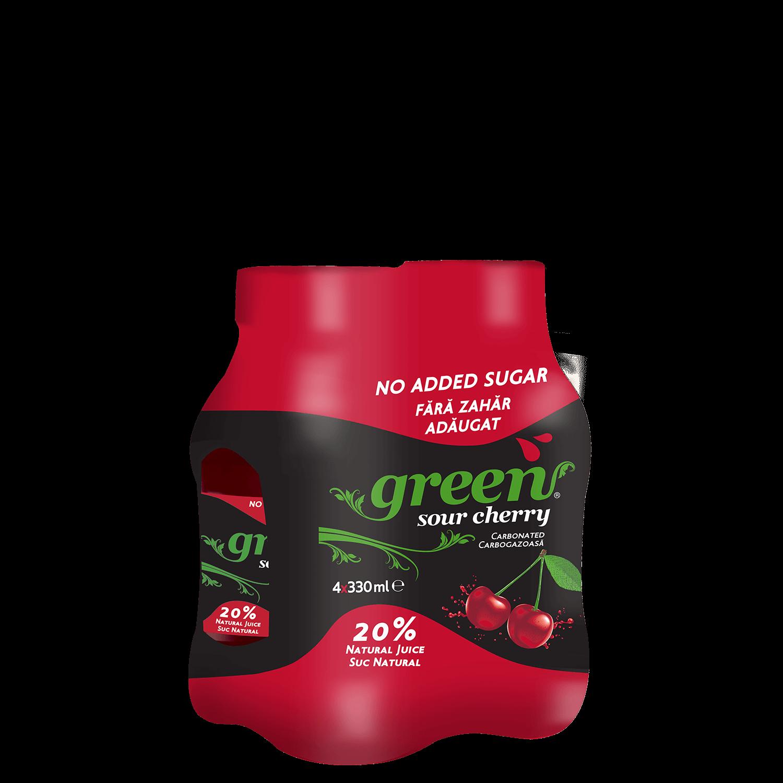 Green sour cherry - 4x330ml - PET